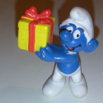 1996 peyo smurfs McDonald's issue with Gift wrapped present